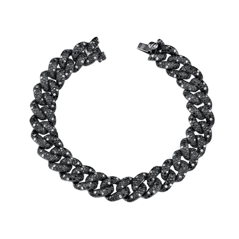 Black Diamond Twinkle Essential Link Bracelet - Shay - Bracelets | Broken English Jewelry