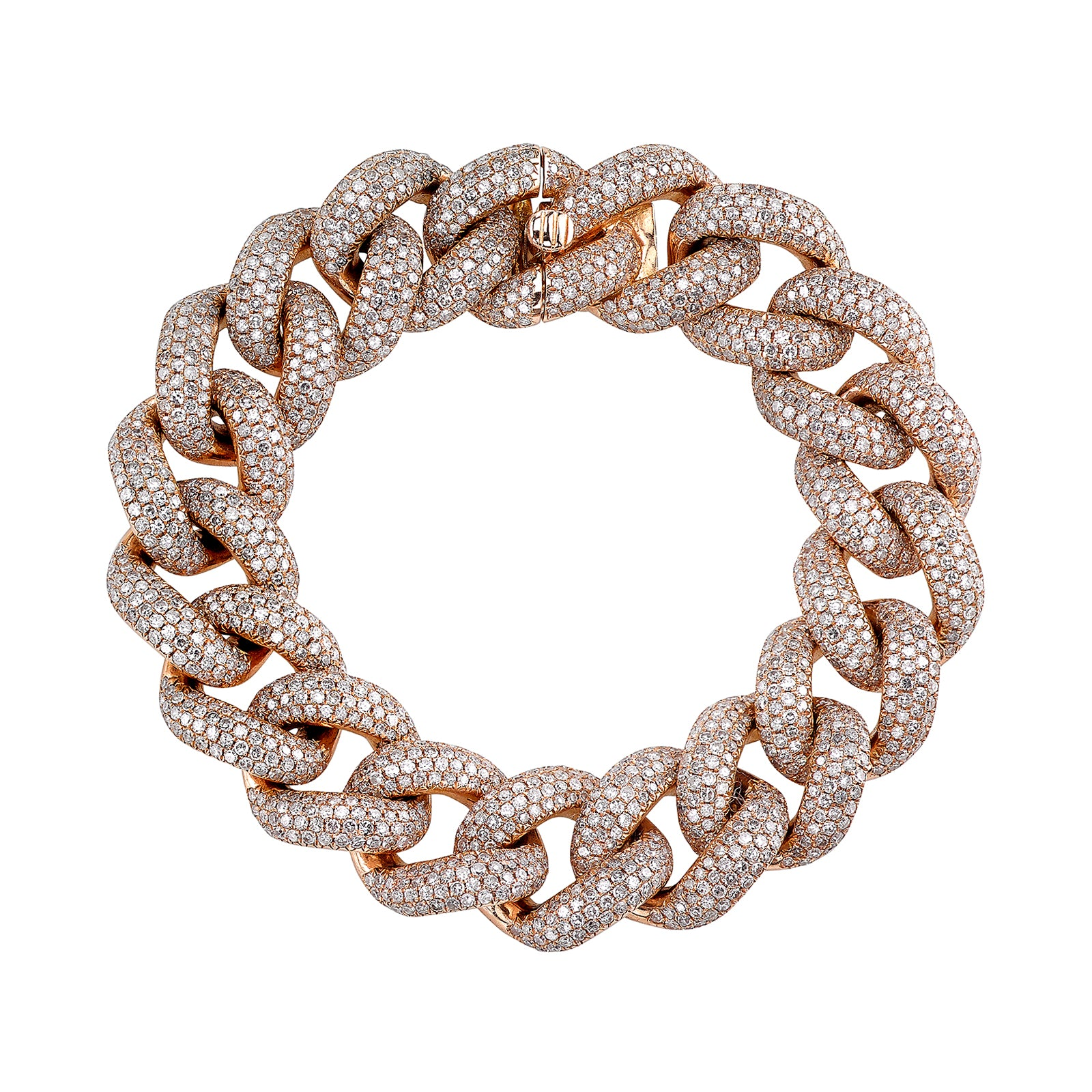Shay Jumbo Diamond Link Bracelet - Rose Gold - Bracelets - Broken English Jewelry