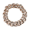 Shay Triple Pave Jumbo Link Bracelet - Rose Gold - Bracelets - Broken English Jewelry