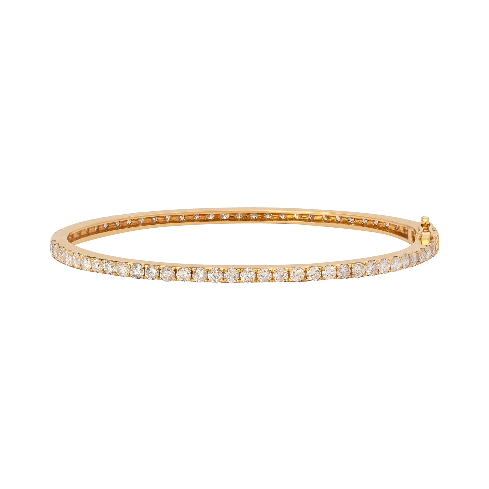 Shay Essential Single Row Bangle - White Diamond - Bracelets - Broken English Jewelry