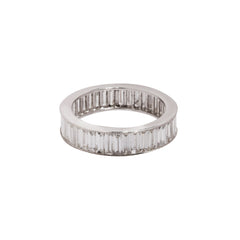 Gold White Diamond Baguette Eternity Band by Sethi Couture for Broken English Jewlery