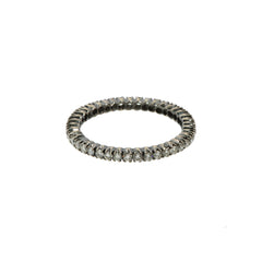 White Diamond Black Rhodium Diamond Prong Band by Sethi Couture for Broken English Jewlery