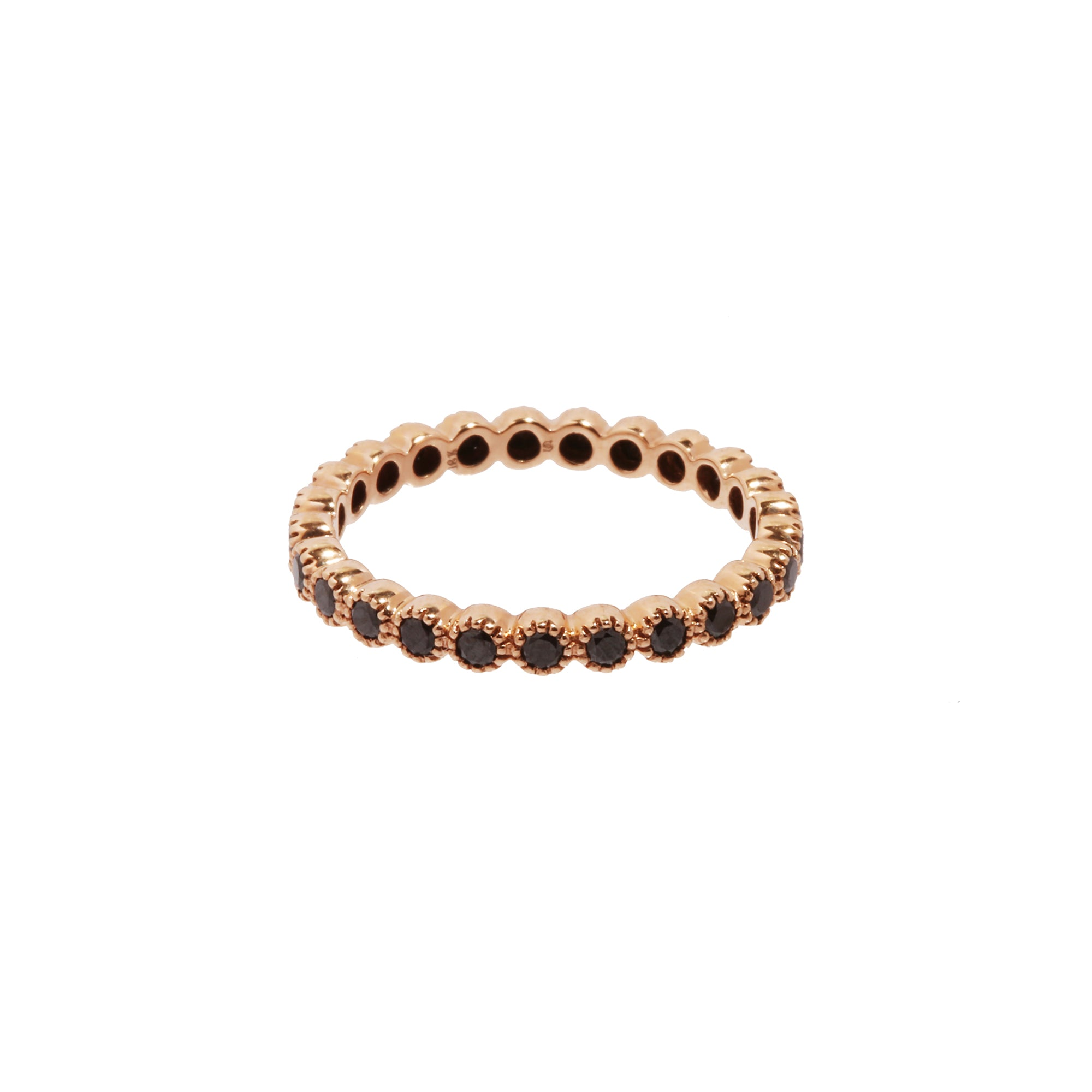 Rose Gold Black Diamond Bezel Band