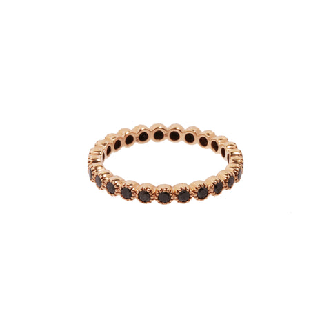Rose Gold Black Diamond Bezel Band by Sethi Couture for Broken English Jewlery