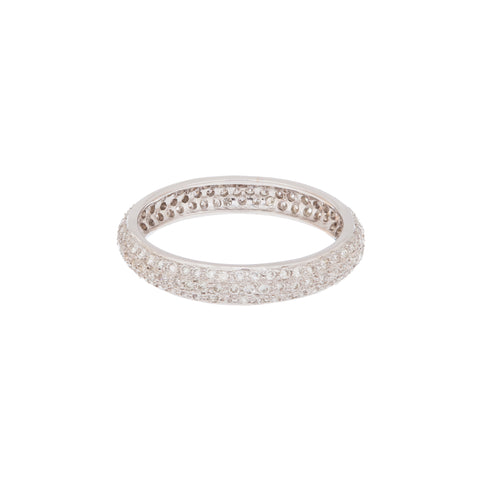 White Diamond White Gold Tire Band by Sethi Couture for Broken English Jewlery