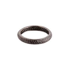 Gold Black Diamond Tire Band by Sethi Couture for Broken English Jewlery