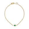 Single Link Bracelet with Green Enamel - ANDY LIF Jewelry - Bracelets | Broken English Jewelry