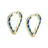 Cobra Hoops with Blue Enamel - ANDY LIF Jewelry - Earrings | Broken English Jewelry