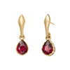 Red Garnet Pear Gemstone Earrings - ANDY LIF Jewelry - Earrings | Broken English Jewelry