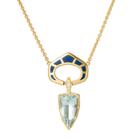 Precision Cut Aquamarine Necklace  - ANDY LIF Jewelry - Necklaces | Broken English Jewelry