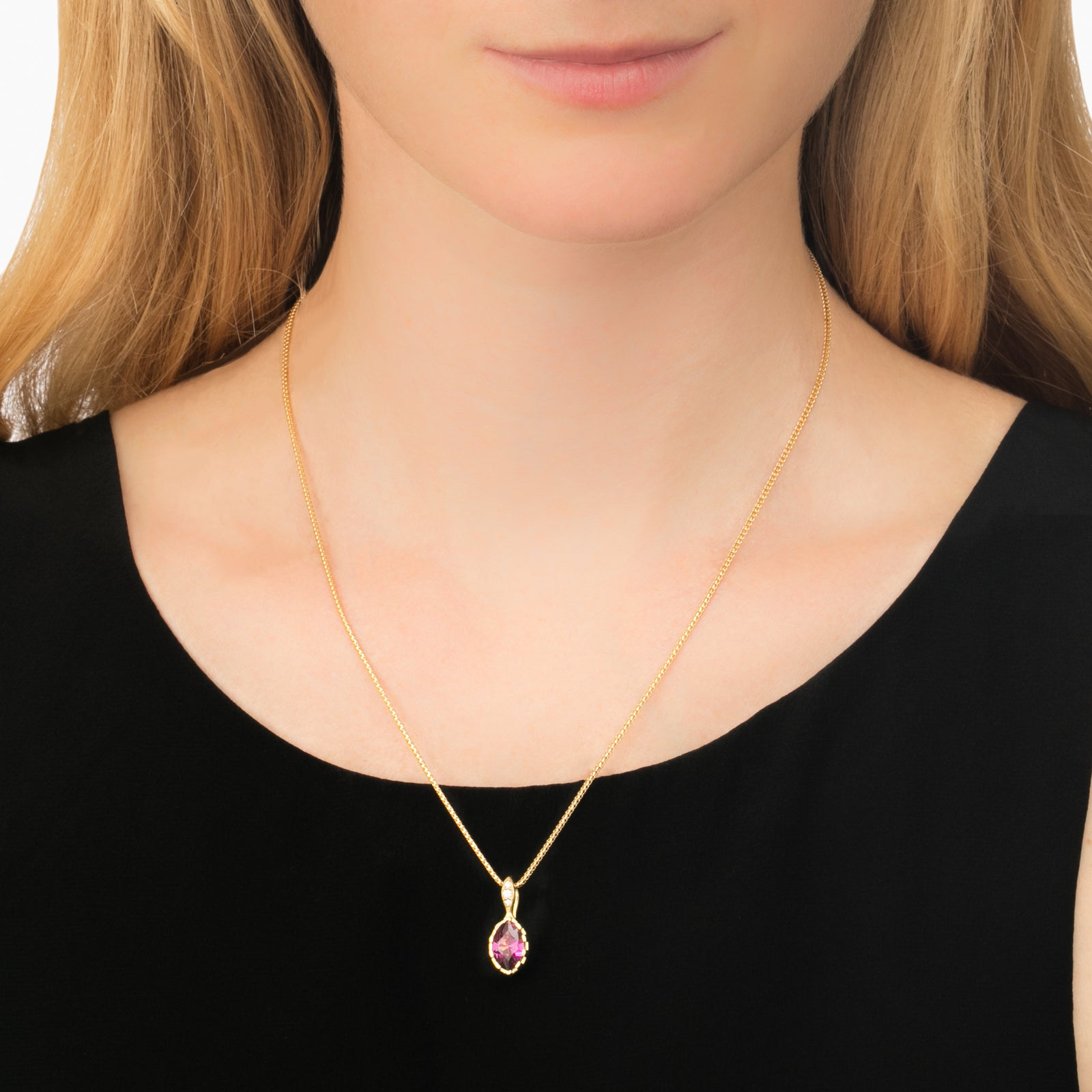 Grape Garnet Genesis Pendant Necklace - ANDY LIF Jewelry - Necklaces | Broken English Jewelry