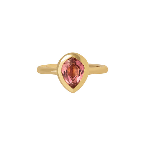 Pink Tourmaline Sunset Kiss Gemstone Ring - ANDY LIF Jewelry - Rings | Broken English Jewelry