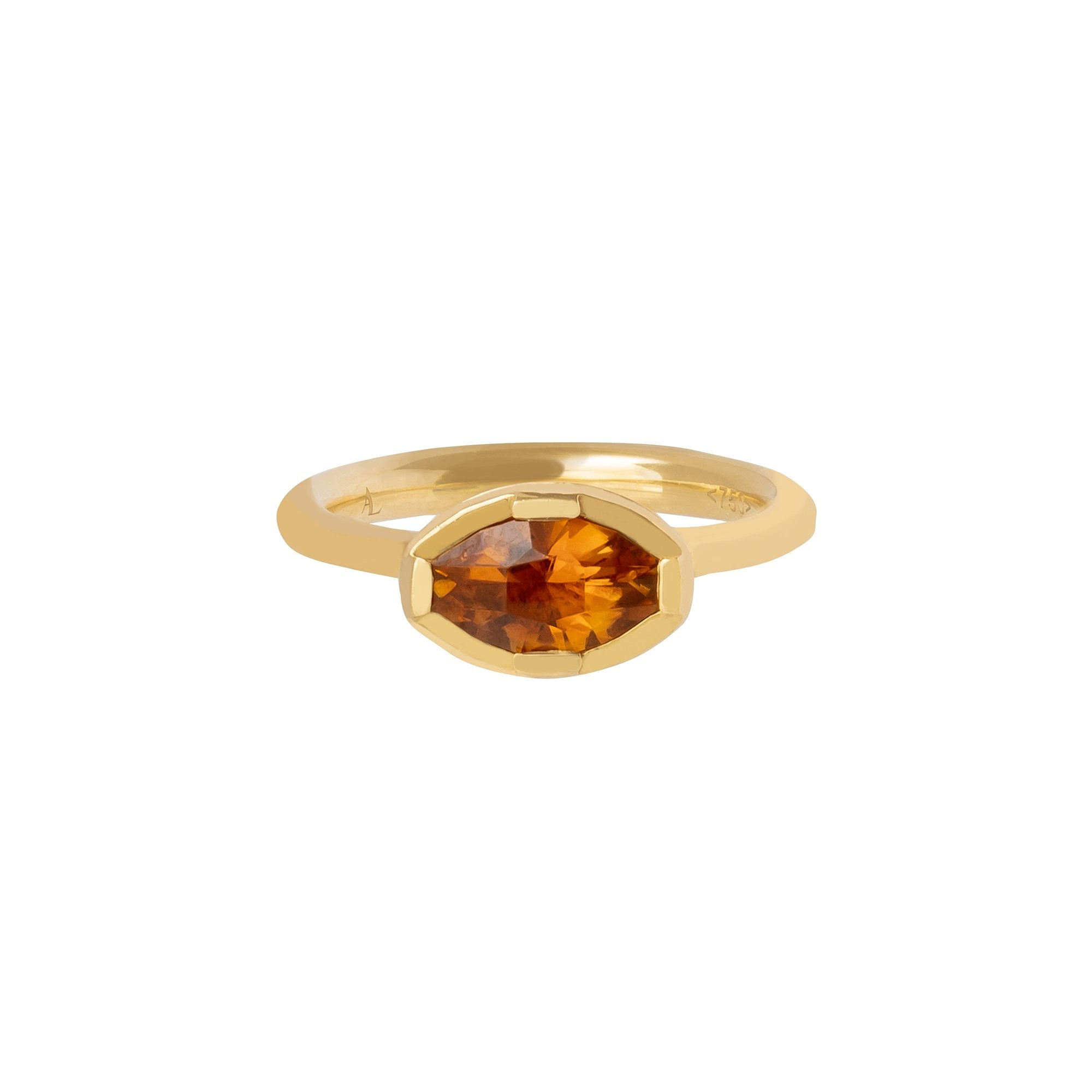 Orange Tourmaline Genesis Gemstone Ring - ANDY LIF Jewelry - Rings | Broken English Jewelry