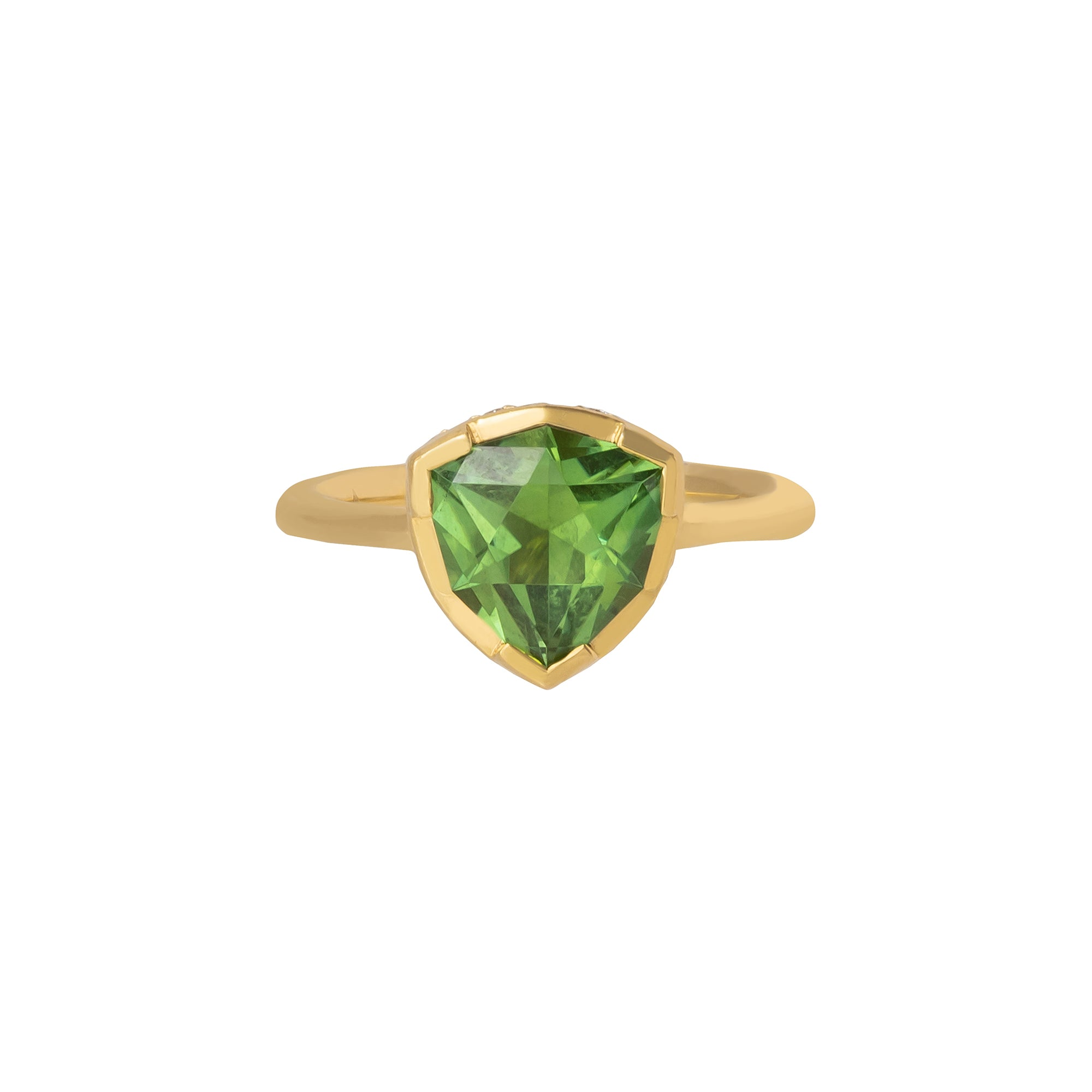 Green Tourmaline Color's Crown Gemstone Ring - ANDY LIF Jewelry - Rings | Broken English Jewelry