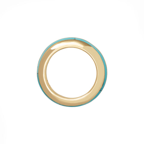 Sima Ring with Turquoise Inlay - ANDY LIF Jewelry - Rings | Broken English Jewelry