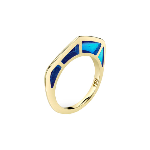 Cobra Ring with Blue Enamel - ANDY LIF Jewelry - Rings | Broken English Jewelry