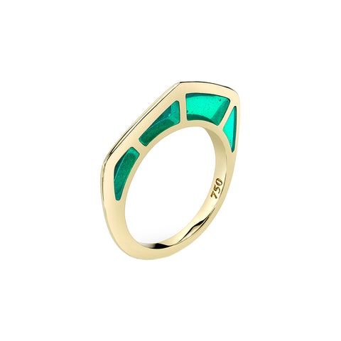 Cobra Ring with Green Enamel - ANDY LIF Jewelry - Rings | Broken English Jewelry