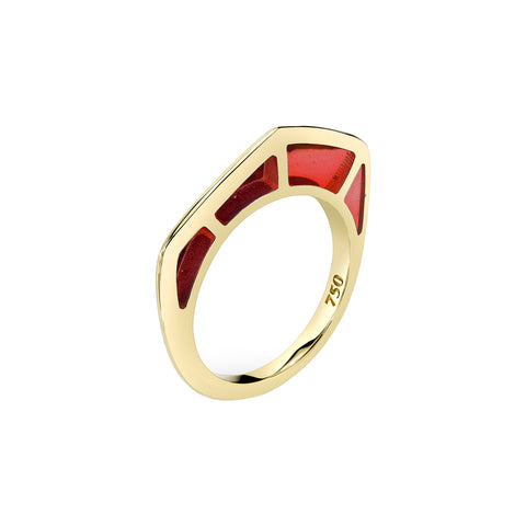Cobra Ring with Red Enamel - ANDY LIF Jewelry - Rings | Broken English Jewelry