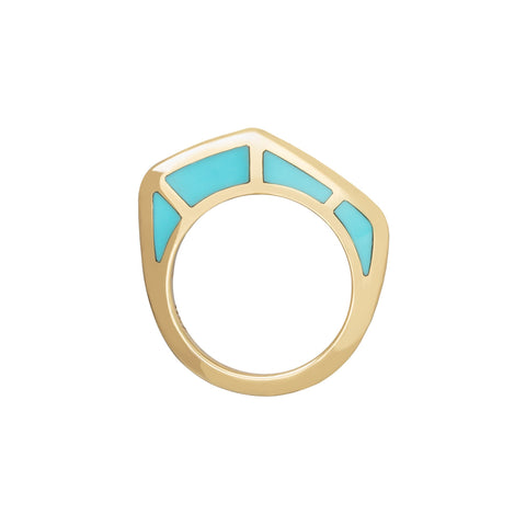Cobra Ring with Turquoise Inlay - ANDY LIF Jewelry - Rings | Broken English Jewelry