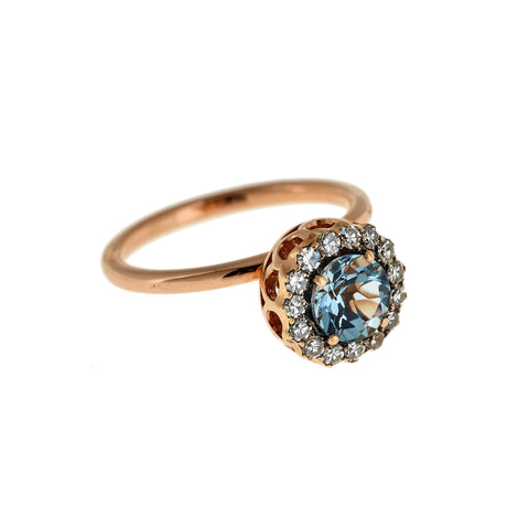 Small Aquamarine Ring by Selim Mouzannar for Broken English Jewelry