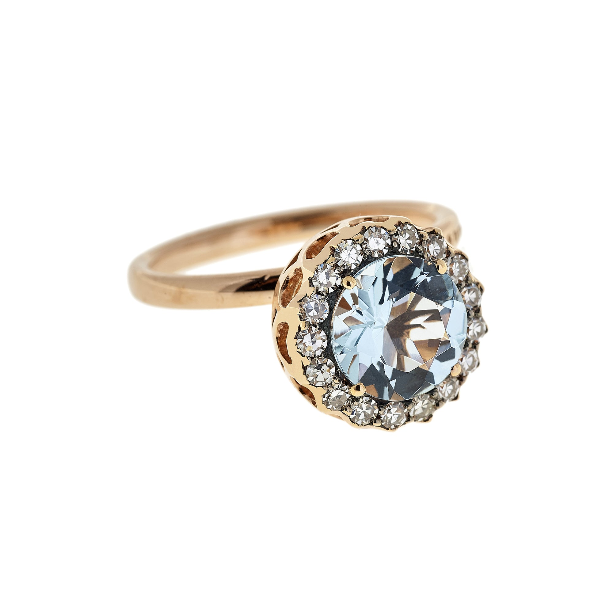 Large Aquamarine Ring by Selim Mouzannar for Broken English Jewelry