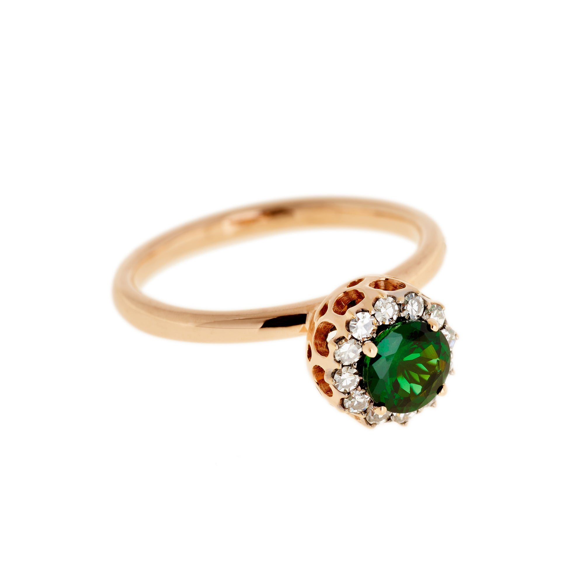 Tsavorite Ring by Selim Mouzannar for Broken English Jewelry