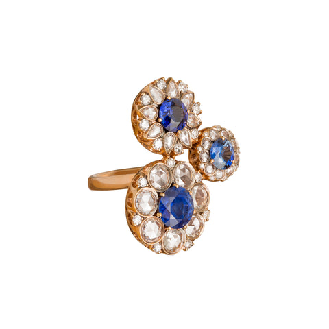 Blue Sapphire and White Diamond Beirut Ring - Selim Mouzannar - Ring | Broken English Jewelry