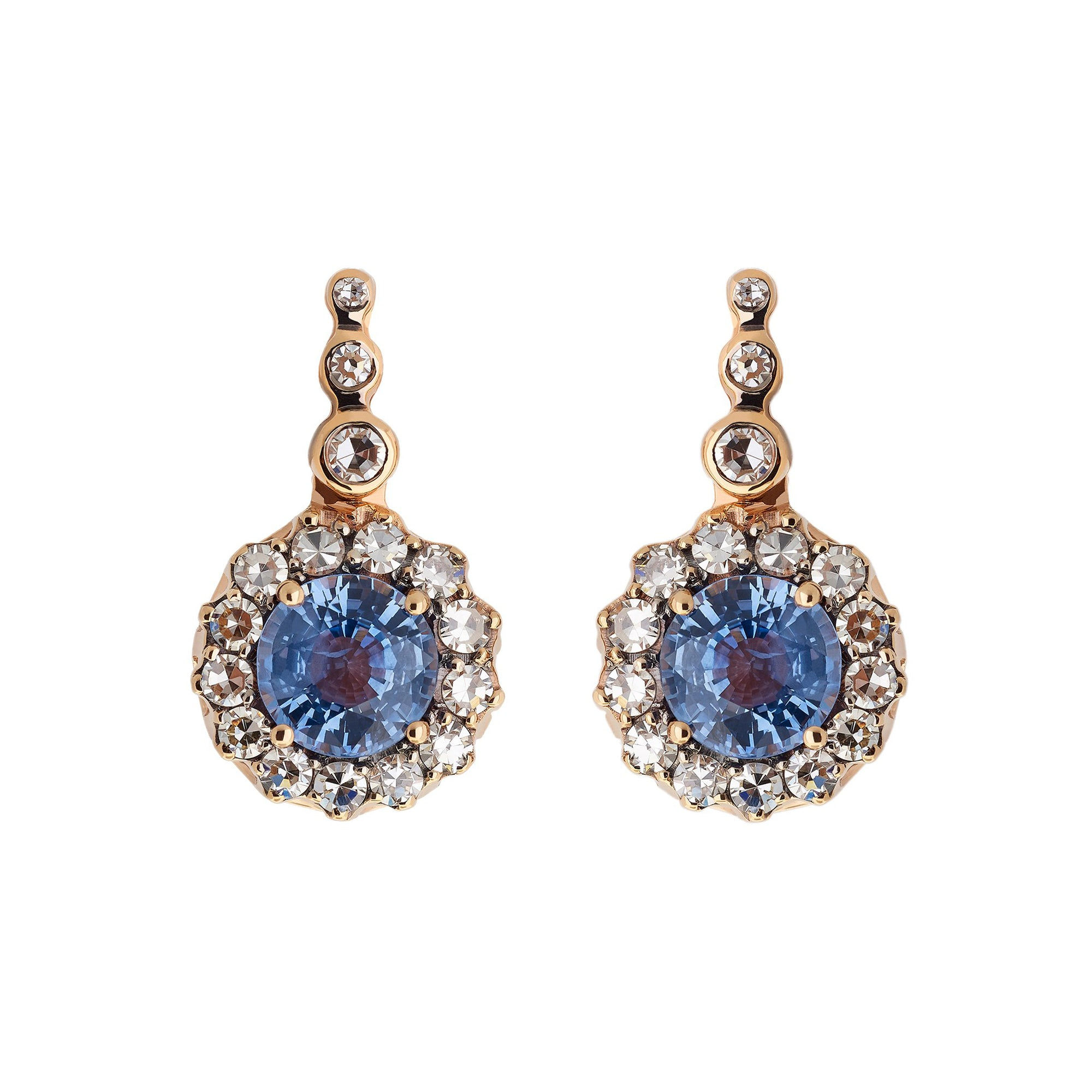 Blue Sapphire Earrings by Selim Mouzannar for Broken English Jewelry