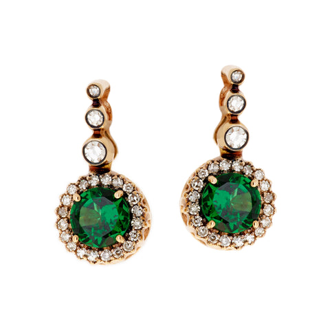 Tsavorite Earrings by Selim Mouzannar for Broken English Jewelry