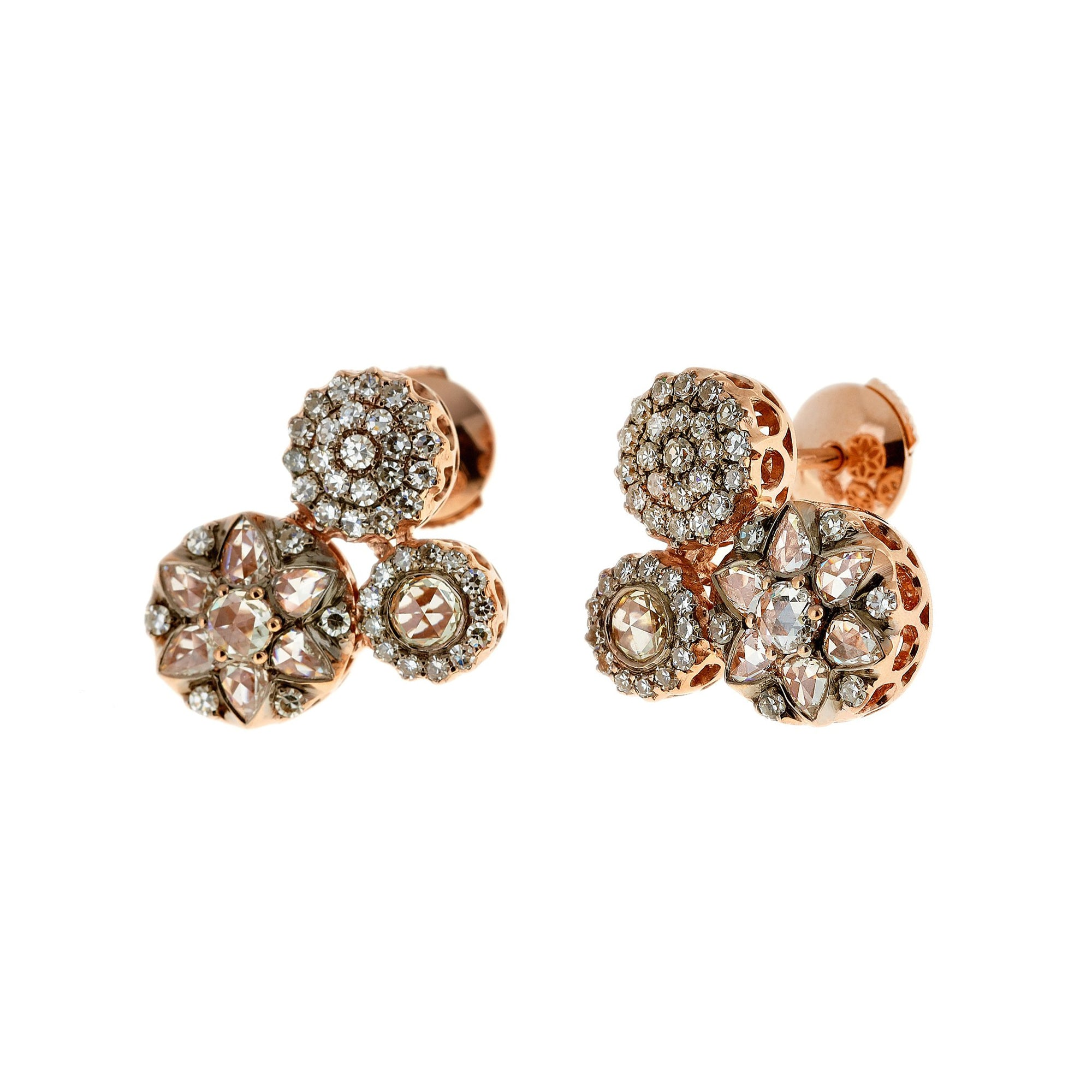 Multi-Diamond Earrings by Selim Mouzannar for Broken English Jewelry