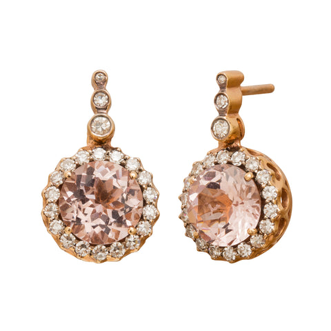 Beirut Morganite Earrings by Selim Mouzannar for Broken English Jewelry