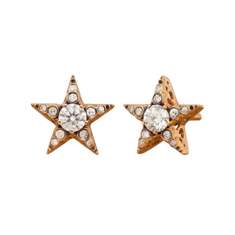 Istanbul Diamond Star Earrings by Selim Mouzannar for Broken English Jewelry