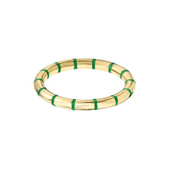 Gold Enamel Shirley Stackable Ring by sara hendler for broken english jewelry