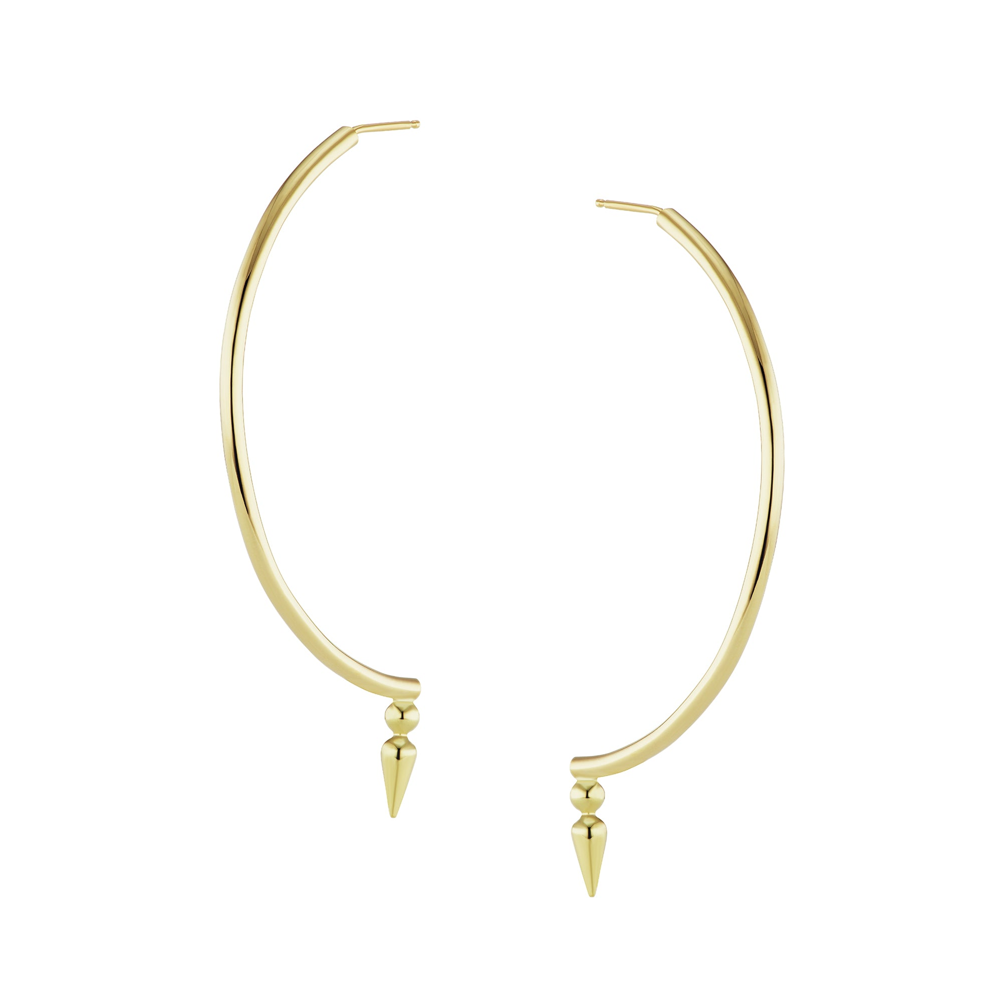 Sarah Hendler Half Spear Hoops - Earrings - Broken English Jewelry
