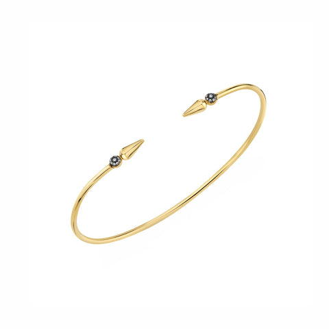 Pave Spear Center Bangle -Diamond - Sarah Hendler - Bracelets | Broken English Jewelry