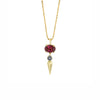 Pave Center Spear Pendant - Rhodolite - Sarah Hendler - Necklaces | Broken English Jewelry