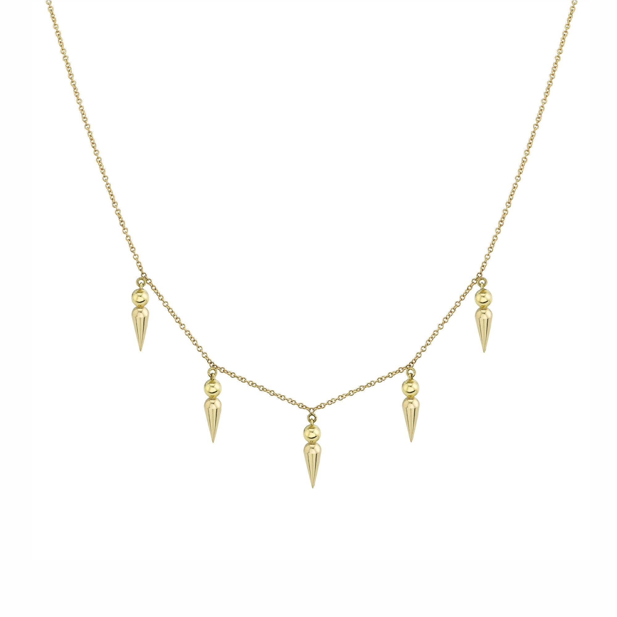 5 Point Spear Tip Collar Necklace - Sarah Hendler - Necklaces | Broken English Jewelry