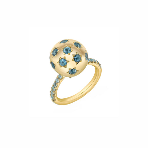 Pave Ethel Ring - Aquamarine - Sarah Hendler - Rings | Broken English Jewelry
