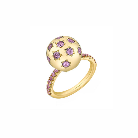 Pave Ethel Ring - Pink Sapphire - Sarah Hendler - Rings | Broken English Jewelry