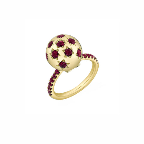 Pave Ethel Ring - Ruby - Sarah Hendler - Rings | Broken English Jewelry