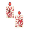 Marquetry Red Coral Earrings - Silvia Furmanovich - Earrings | Broken English Jewelry