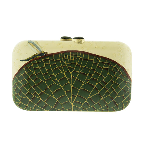 Marquetry Waterlily Clutch - Silvia Furmanovich - Accessories | Broken English Jewelry