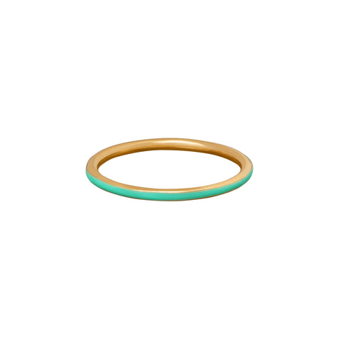 Green Enamel Band - Suel - Rings | Broken English Jewelry