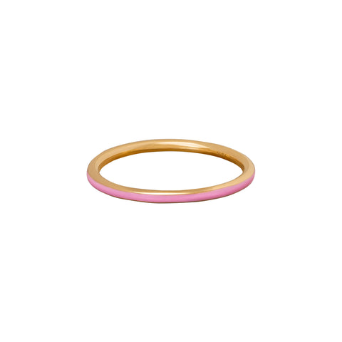 Pink Enamel Band - Suel - Rings | Broken English Jewelry
