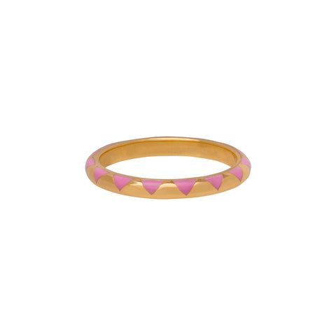 Pink Scallop Ring - Suel - Rings | Broken English Jewelry
