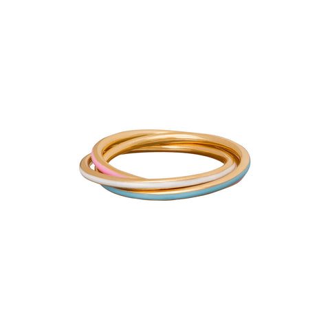 Enamel Trinity Ring - Suel - Rings | Broken English Jewelry