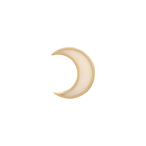 White Crescent Moon Earring - Suel - Earrings | Broken English Jewelry