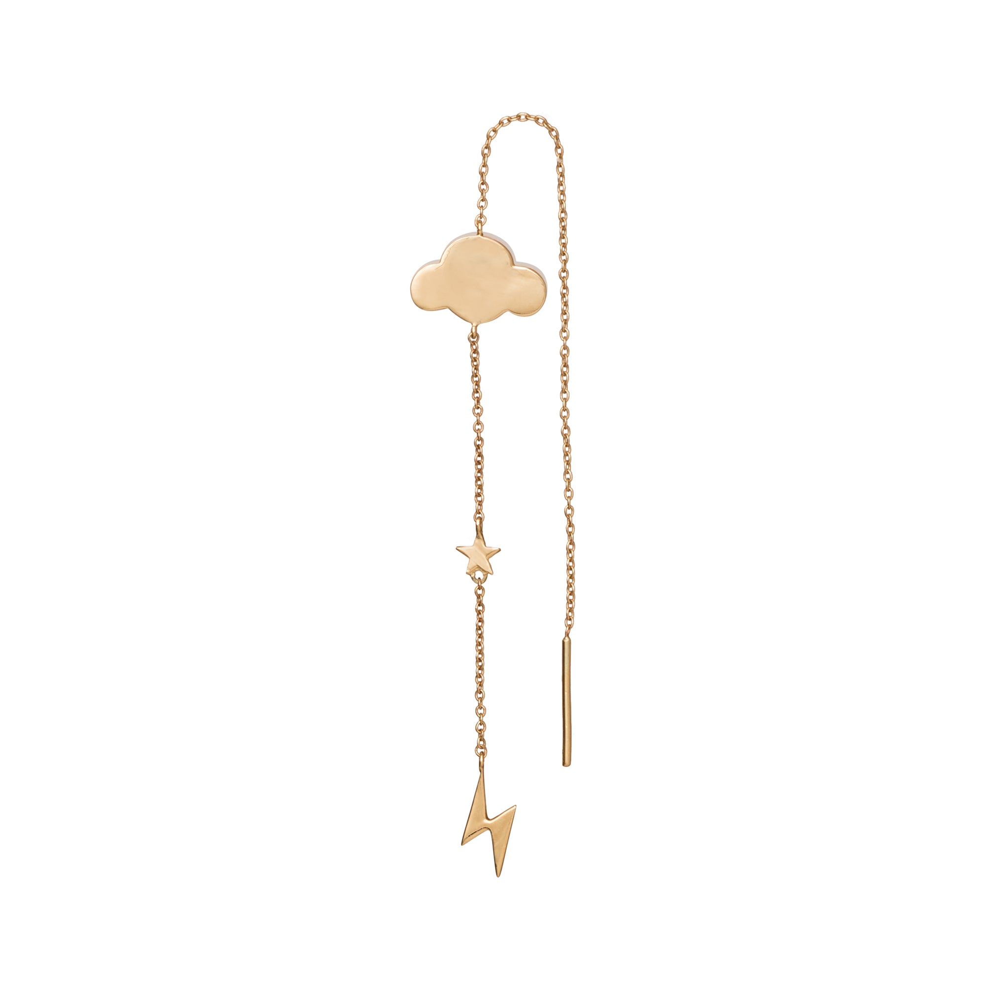 Storm Cloud Pull Through Earring by Suel for Broken English Jewelry