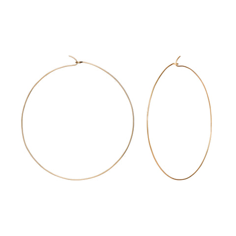 Gold Hoops by Suel for Broken English Jewelry