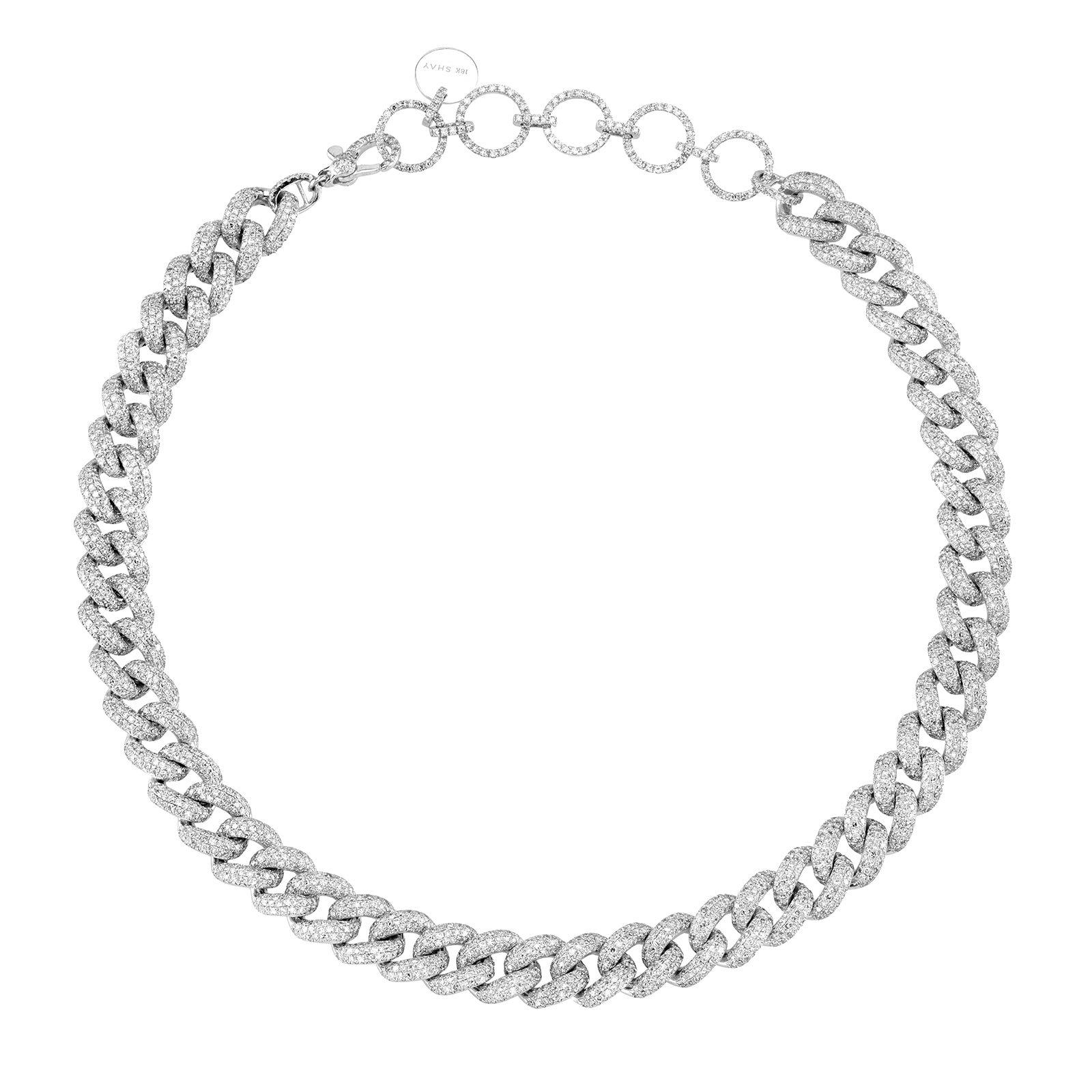 Shay Essential Link Choker - White Gold - Necklaces - Broken English Jewelry